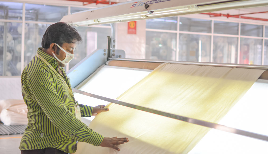 Fabrics Inspection – Knitting Section